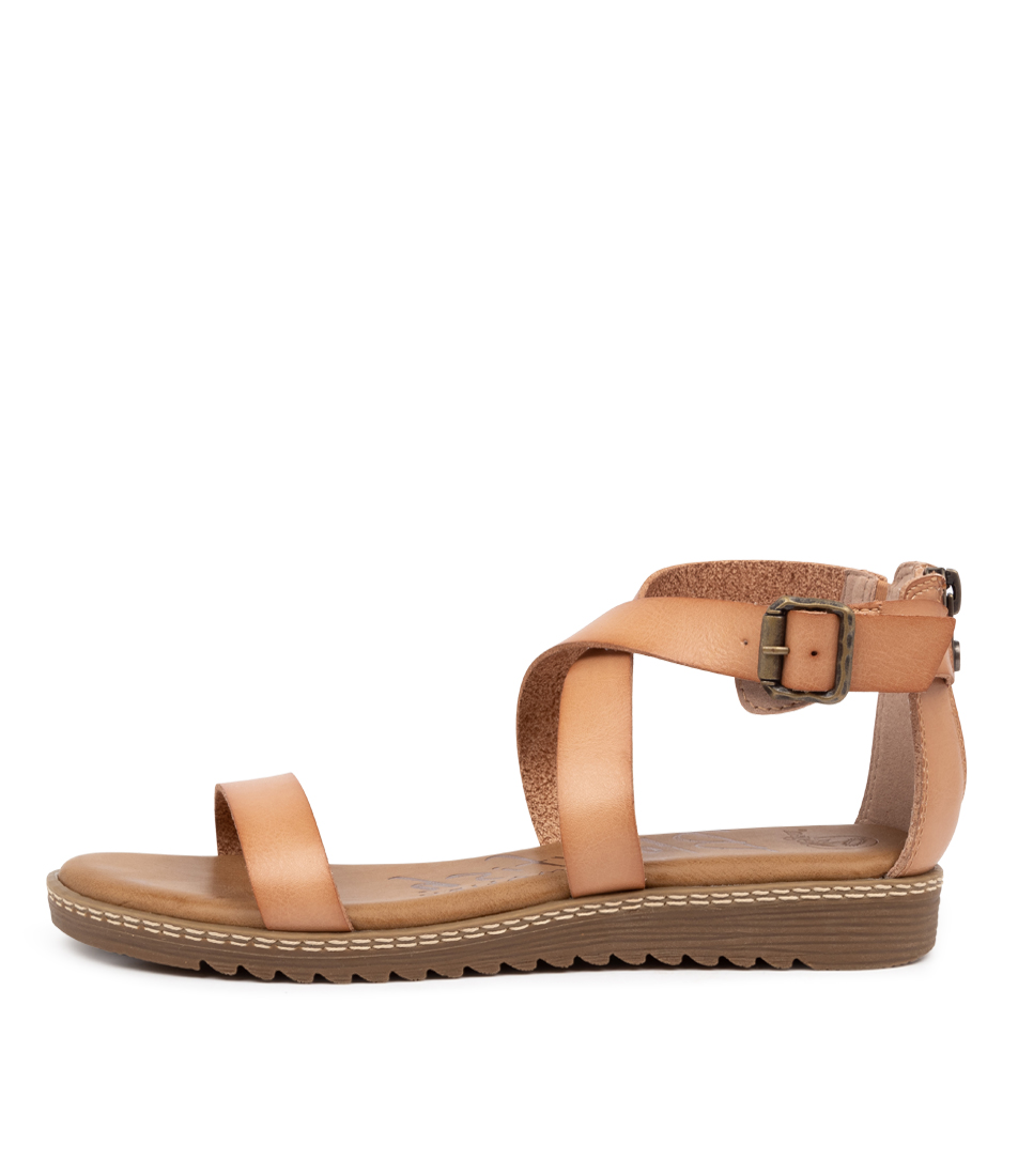 Buy Blowfish Ozone Bw Nude Flat Sandals online with free shipping