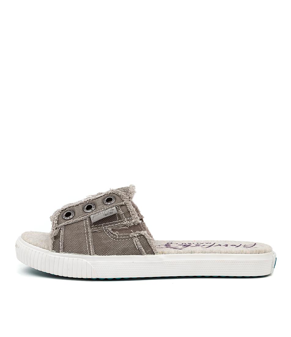 Buy Blowfish Fresco Bw Wolf Grey Flat Sandals online with free shipping