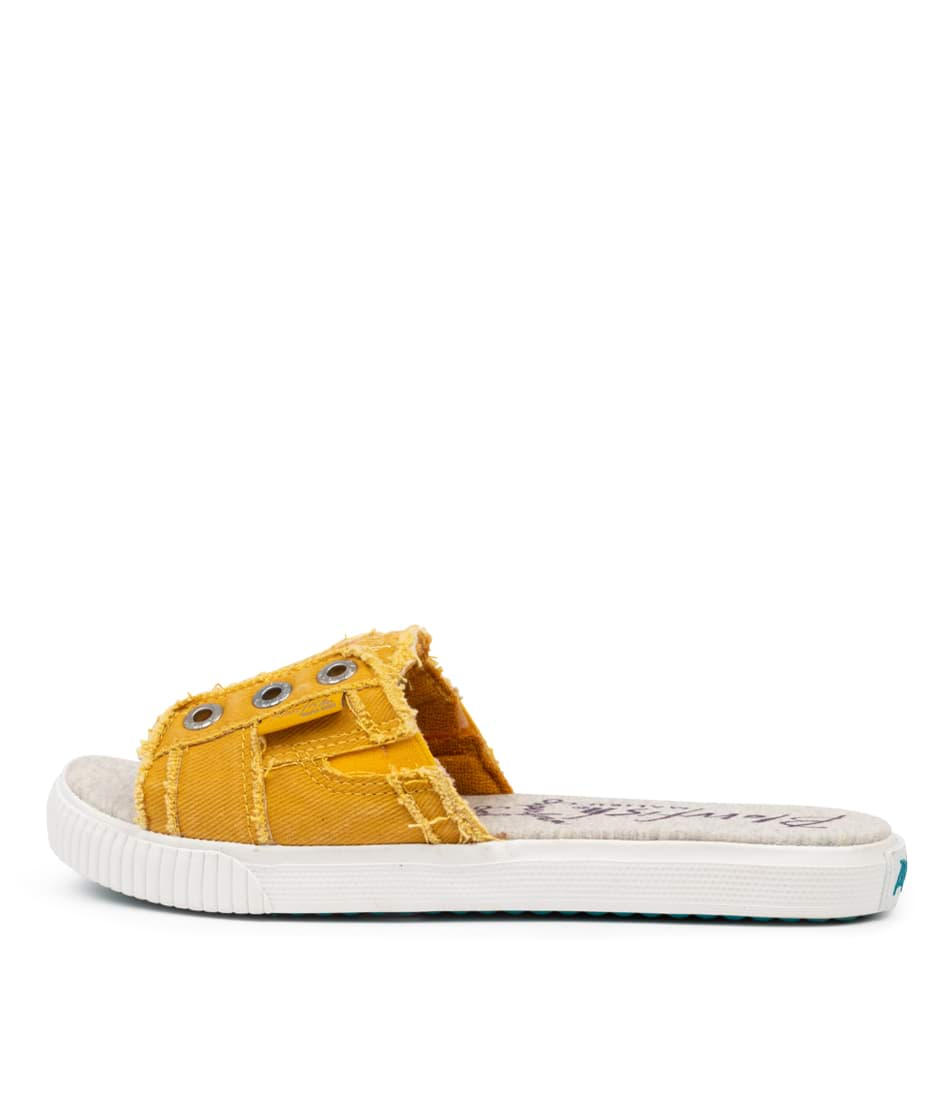 Buy Blowfish Fresco Bw Mustard Flat Sandals online with free shipping