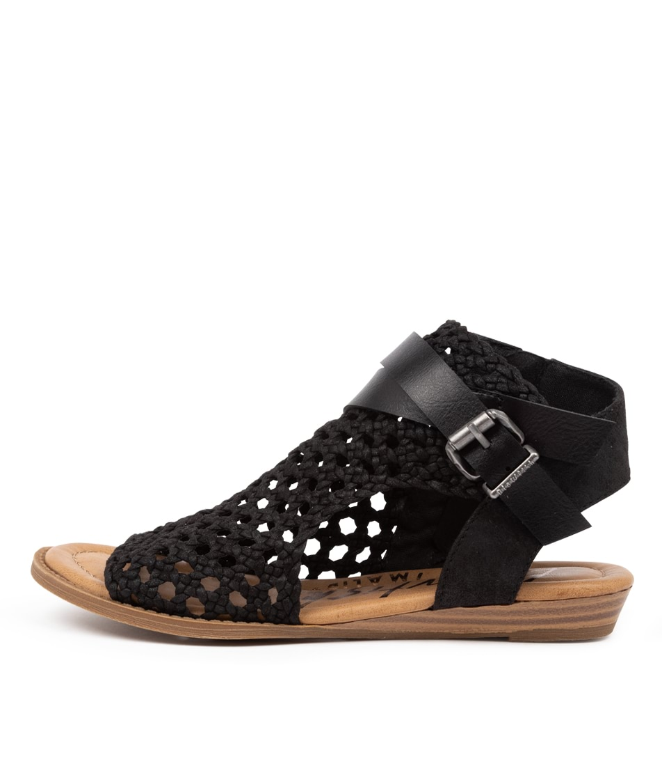 Buy Blowfish Balla D Bw Black Flat Sandals online with free shipping
