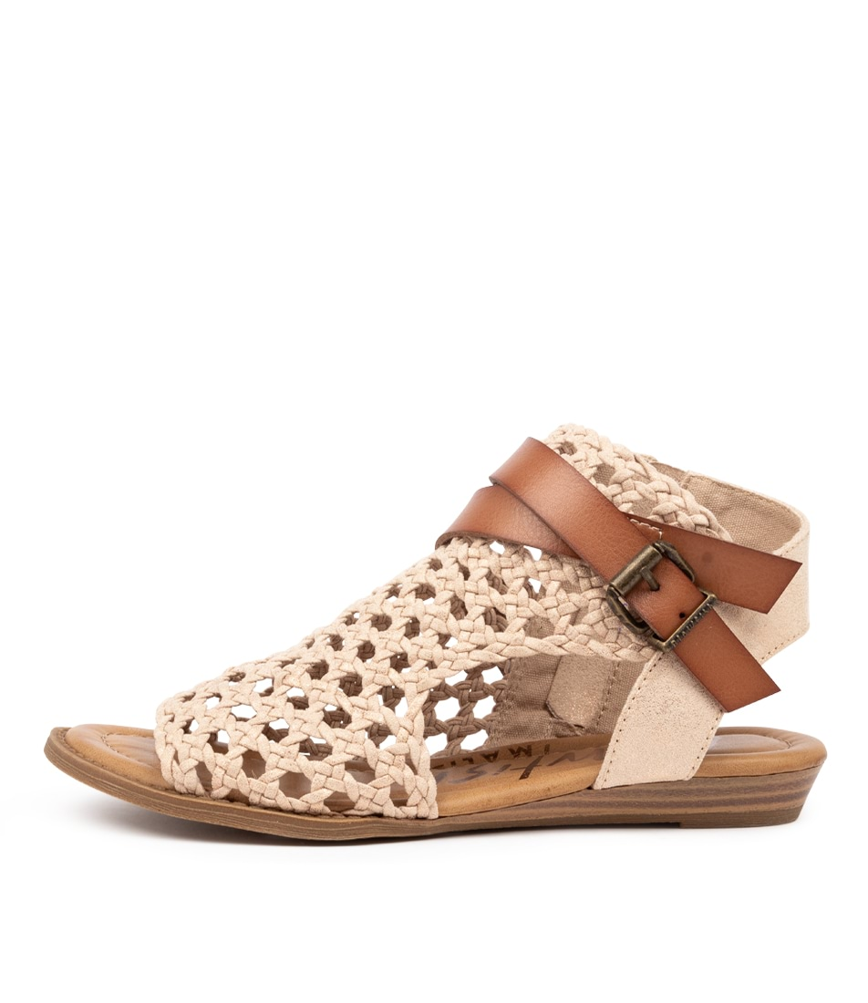 Buy Blowfish Balla D Bw Gold Wheat Flat Sandals online with free shipping