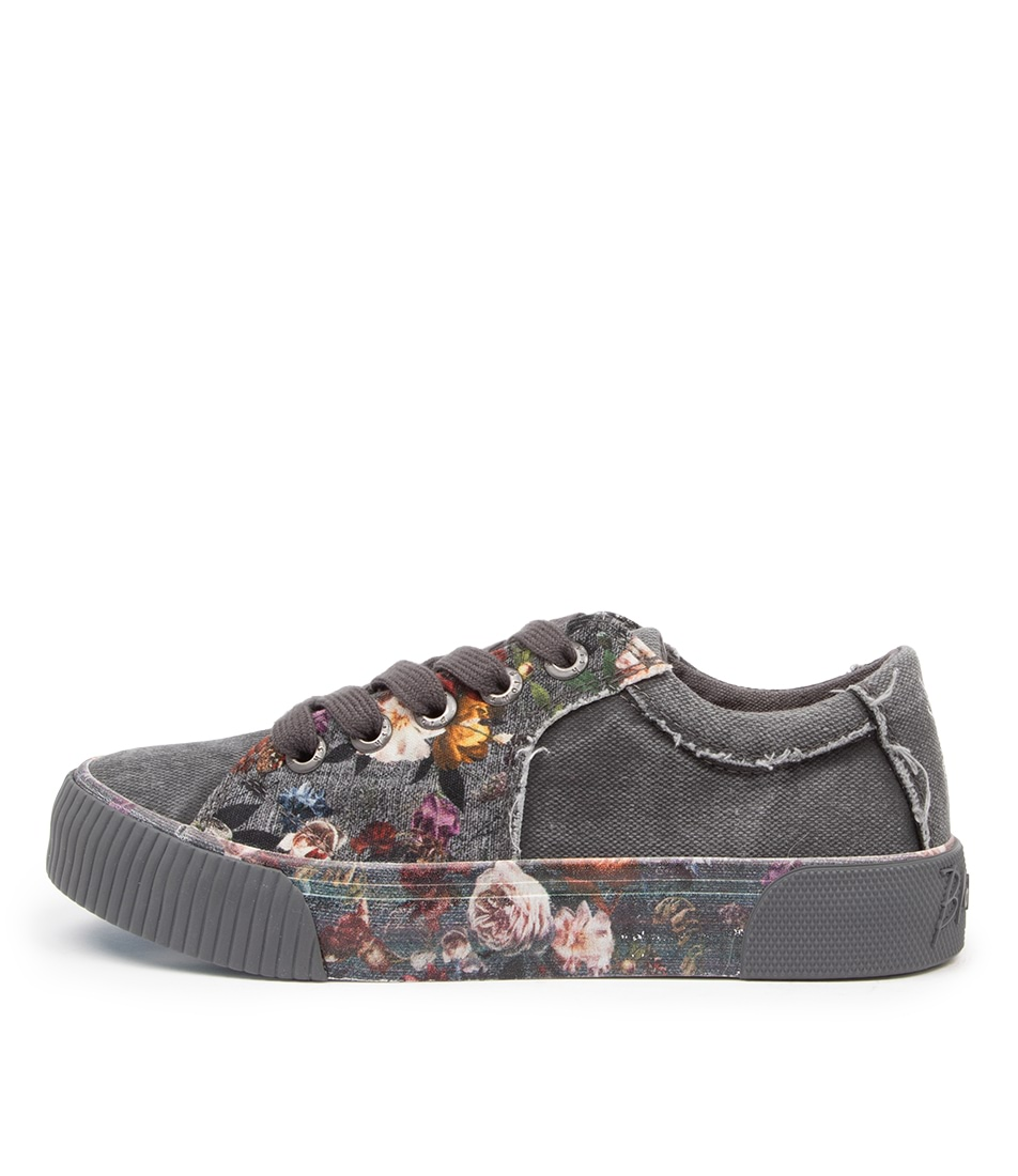 Buy Blowfish Cookie Bw Grey Vintage Petal Sneakers online with free shipping