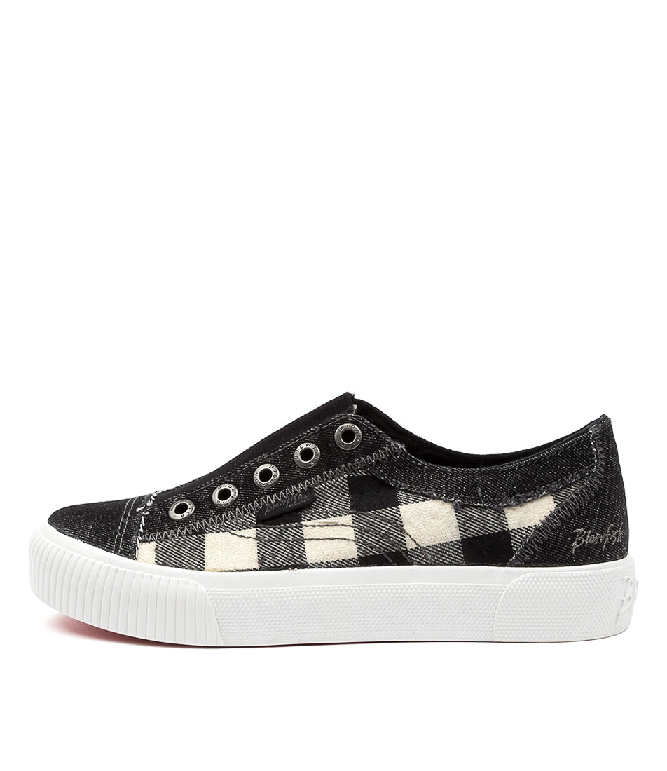 Buy Blowfish Coolaid Bw Black Buffalo Check Sneakers online with free shipping