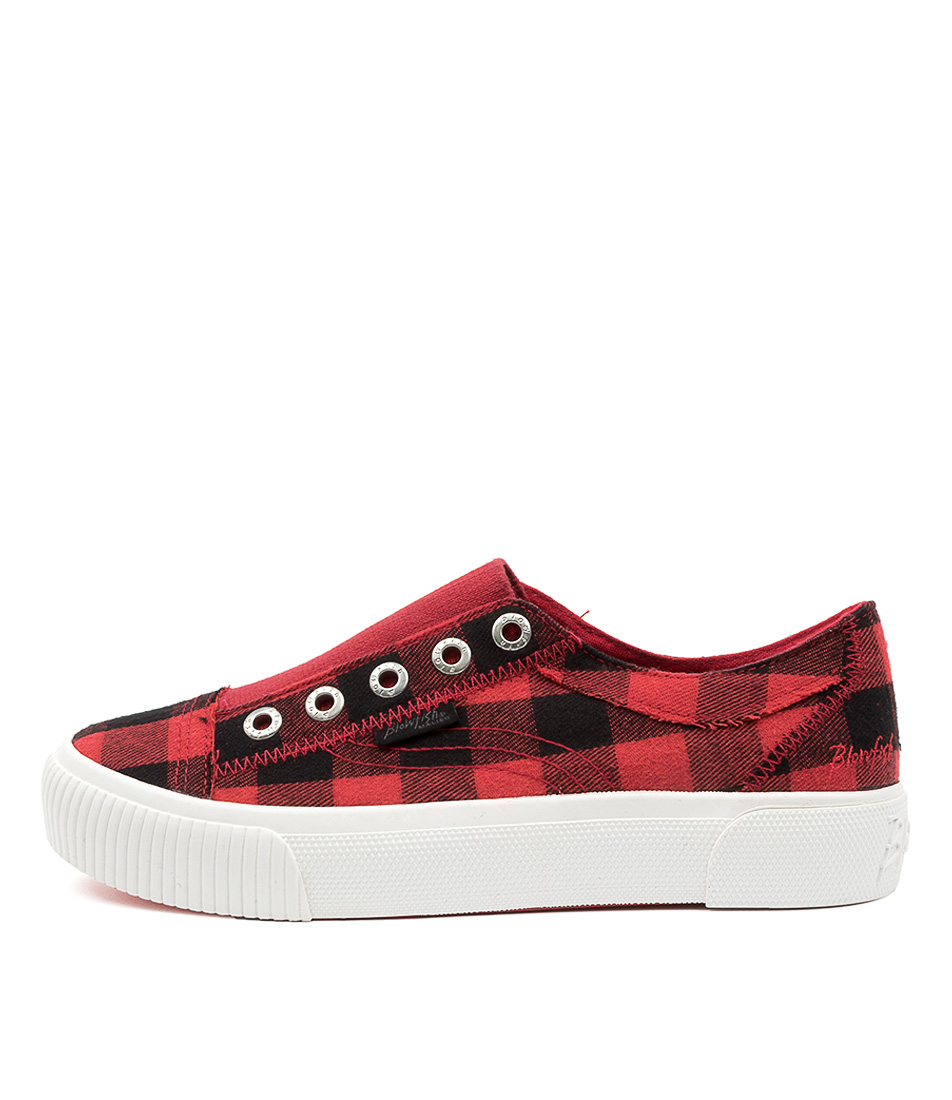 Buy Blowfish Coolaid Bw Red Buffalo Check Sneakers online with free shipping