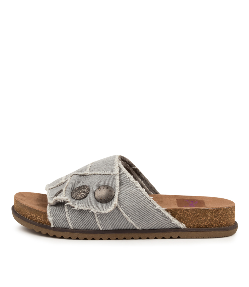 Buy Blowfish Fomo Bw Grey Flat Sandals online with free shipping