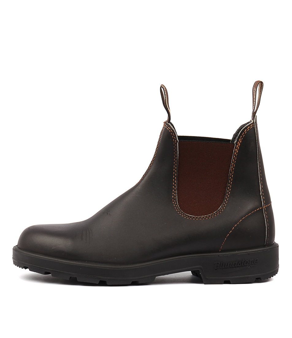 Blundstone 500 Stout Brown Ankle Boots