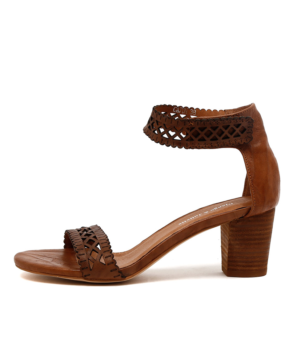 Django & Juliette Cajun Tan Dress Heeled Sandals