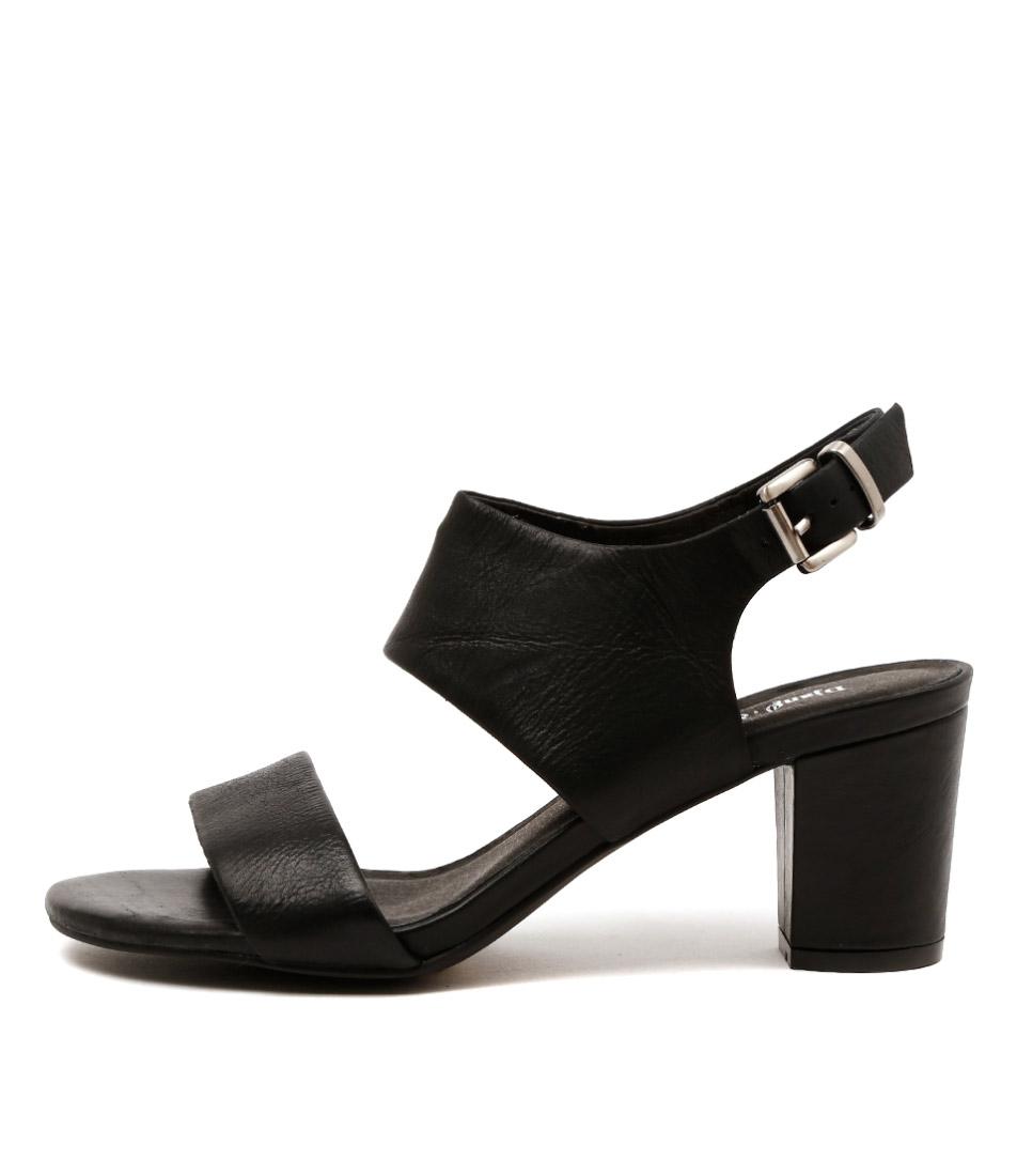 Django & Juliette Carrie Black Heeled Sandals
