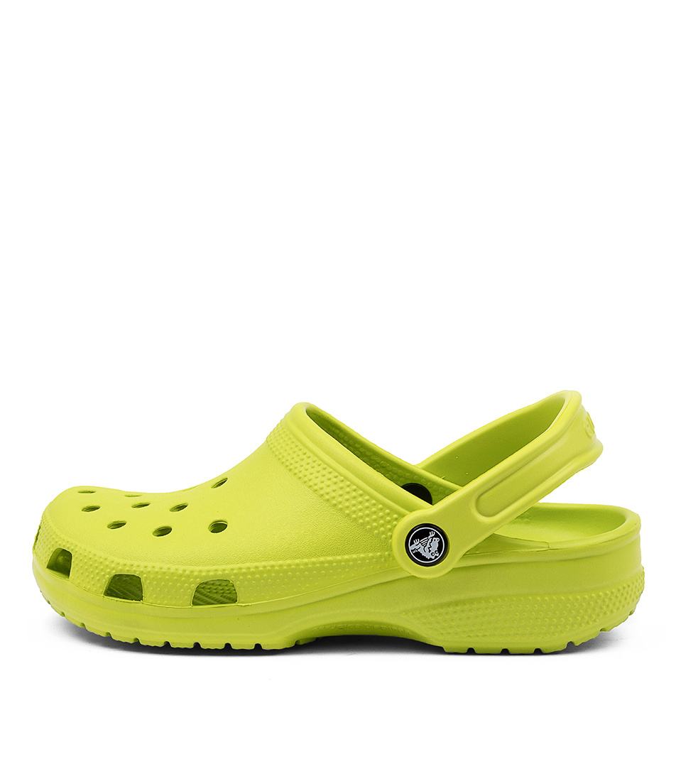 Buy Crocs 10001 Classic W Cc Lime Punch Flat Sandals online with free shipping