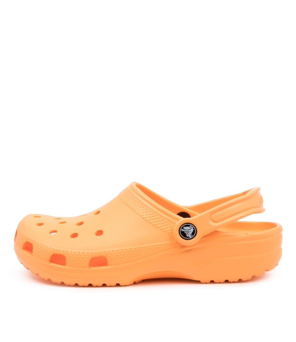 Buy Crocs 10001 Classic W Cc Cantaloupe Flat Sandals online with free shipping