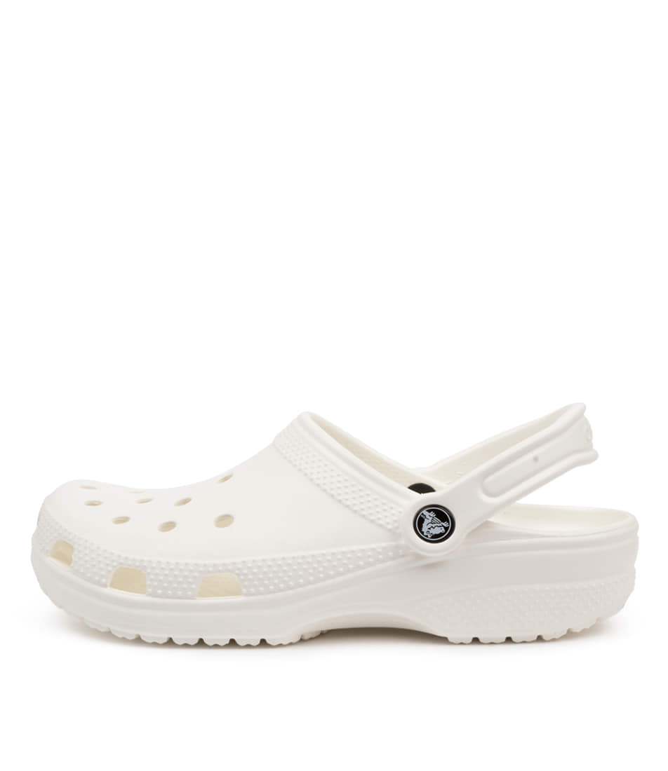 Buy Crocs 10001 Classic W Cc White Flat Sandals online with free shipping