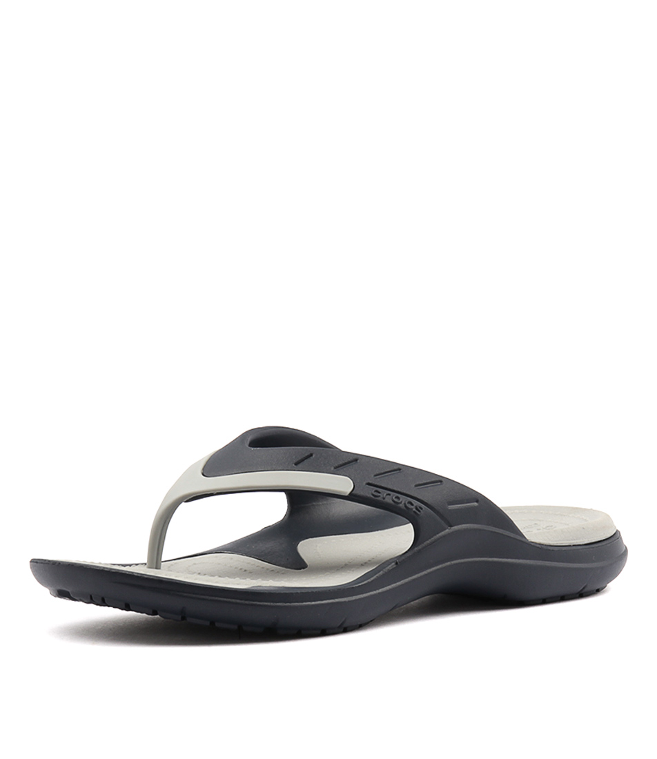4c11c6eaf9ce New Crocs Modi Sport Flip Navy Light Grey Mens Shoes Casual Sandals Sandals  Flat