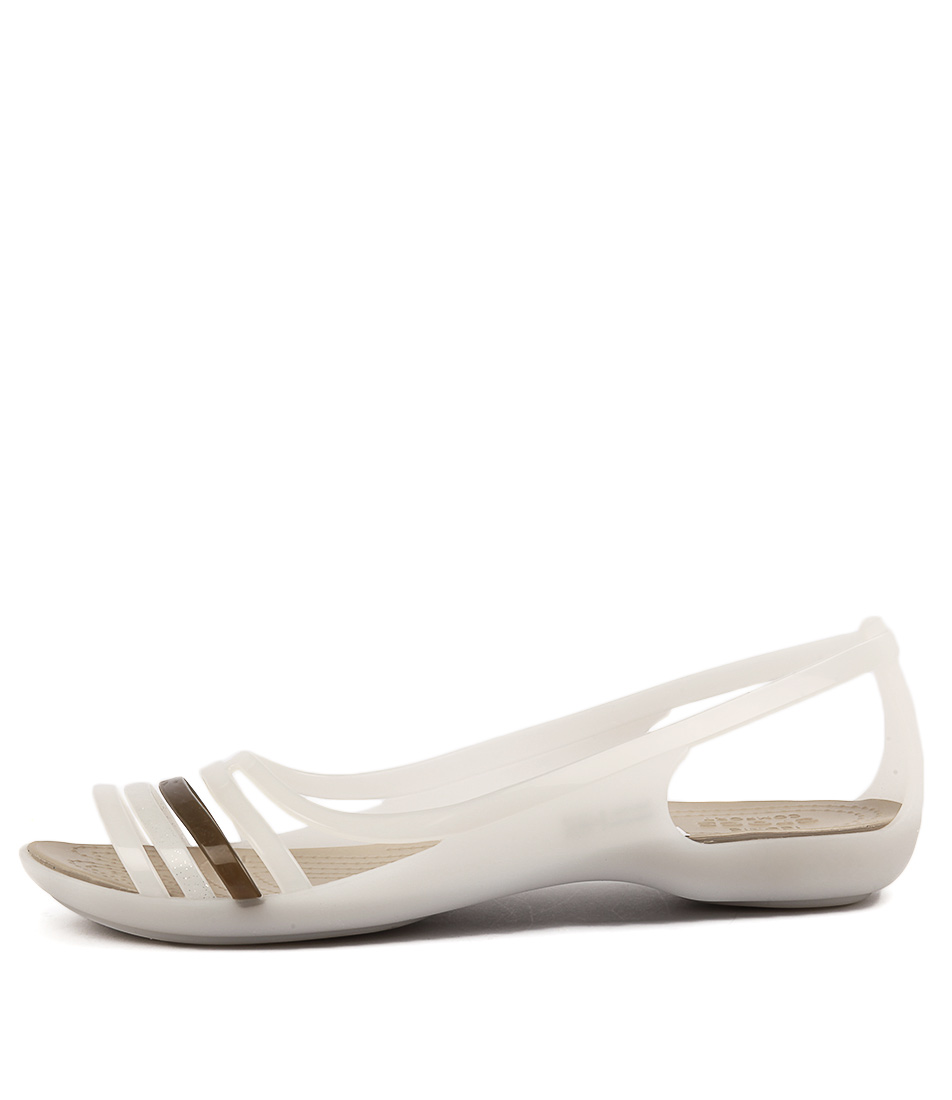Crocs Isabella Huarache Oyster Walnut Sandals