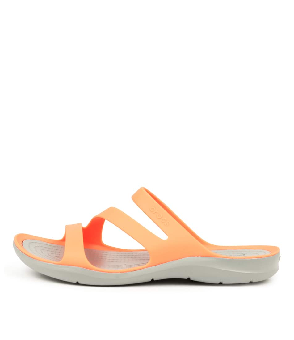 Buy Crocs 203998 Swiftwater Cc Bright Coral Li Flat Sandals online with free shipping