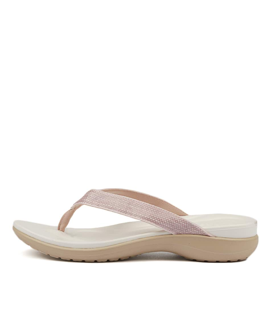 Buy Crocs Capri V Sequin Rose Gold Flat Sandals online with free shipping