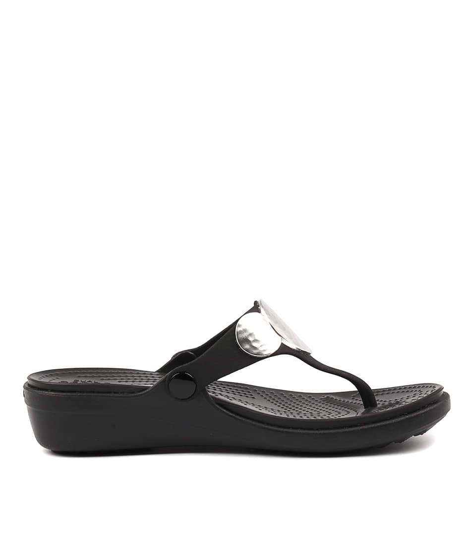 New-Crocs-Sanrah-Embellished-Wedge-Womens-Shoes-Casual-Sandals-Heeled