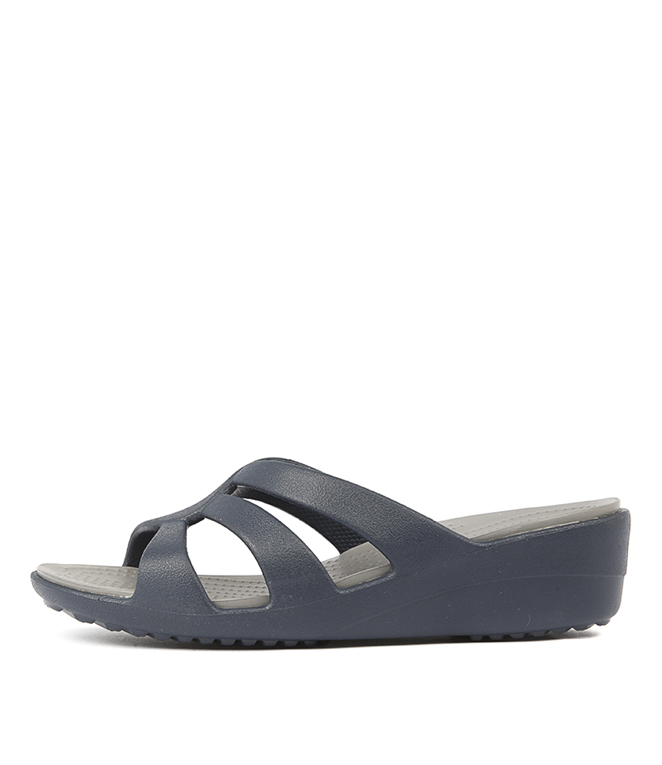 Crocs Sanrah Strappy Navy Smoke Sandals