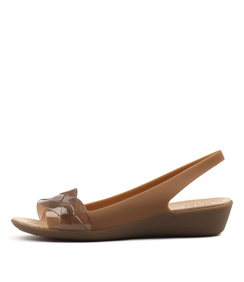 Buy Crocs Isabella Slingback Bronze Gold Flats online with free shipping