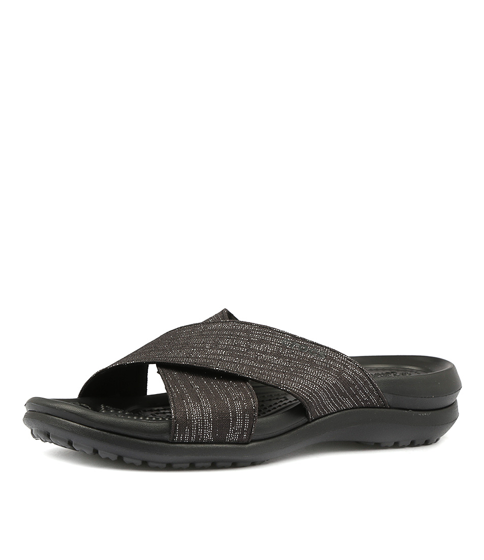 New-Crocs-Capri-Shimmer-Xband-Sandal-Womens-Shoes-
