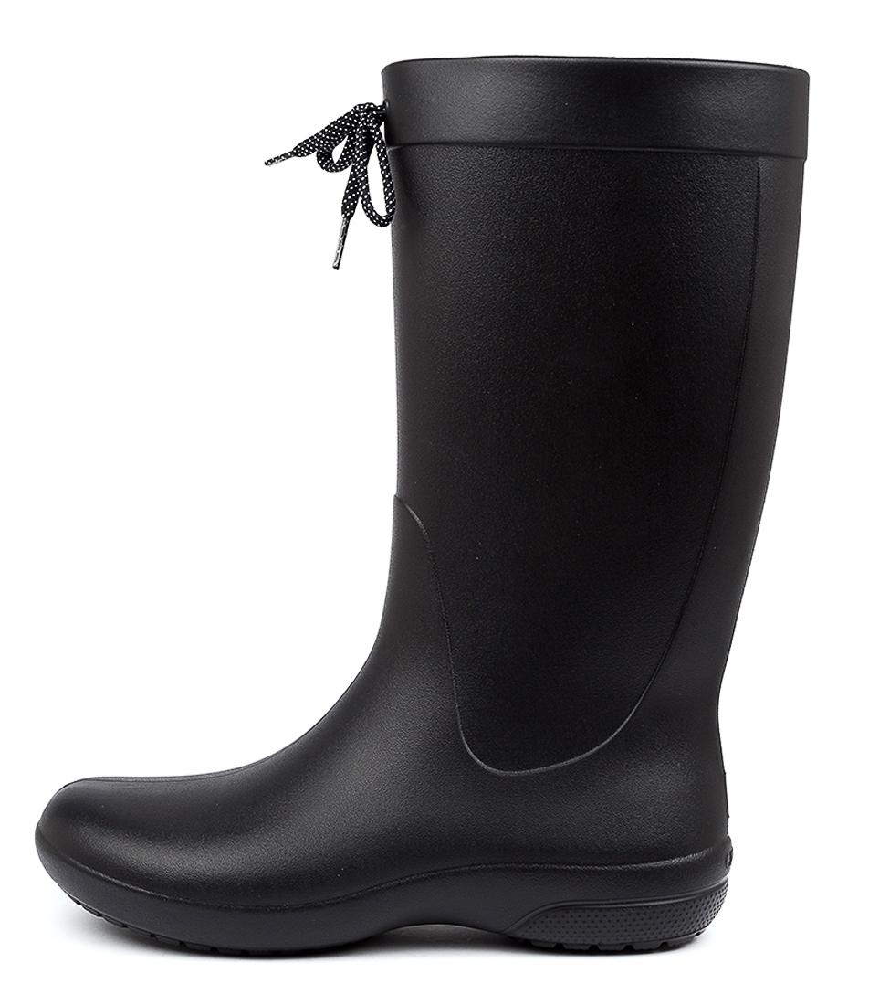 Buy Crocs Freesail Shorty Rain Boot Black Calf Boots online with free shipping