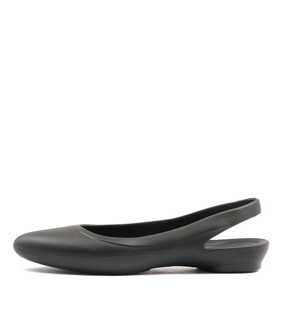 Crocs Eve Slingback Black Flat Shoes
