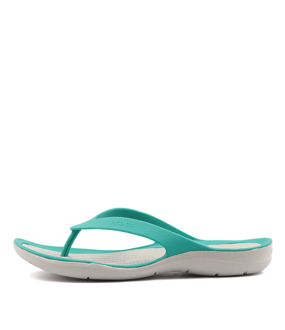 Crocs Swiftwater Flip Women's Tropical Teal P Sandals