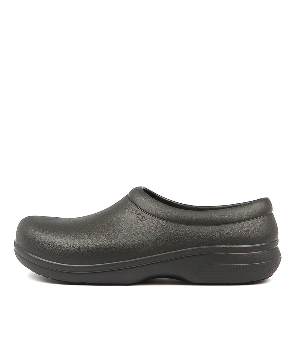 Buy Crocs 205073 On The Clock Work Cc Black Flats online with free shipping