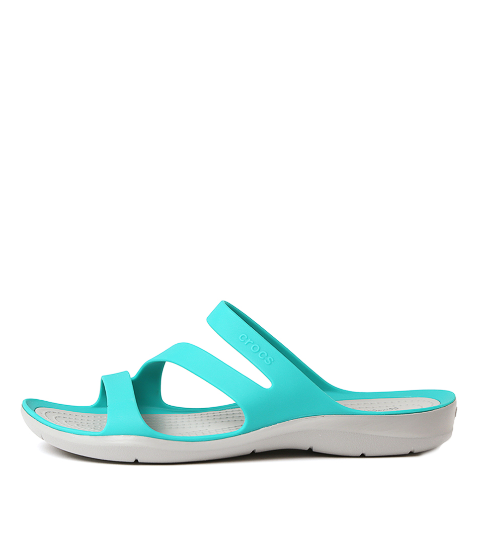 Buy Crocs 203998 Swiftwater Tropical Teal Flat Sandals online with free shipping