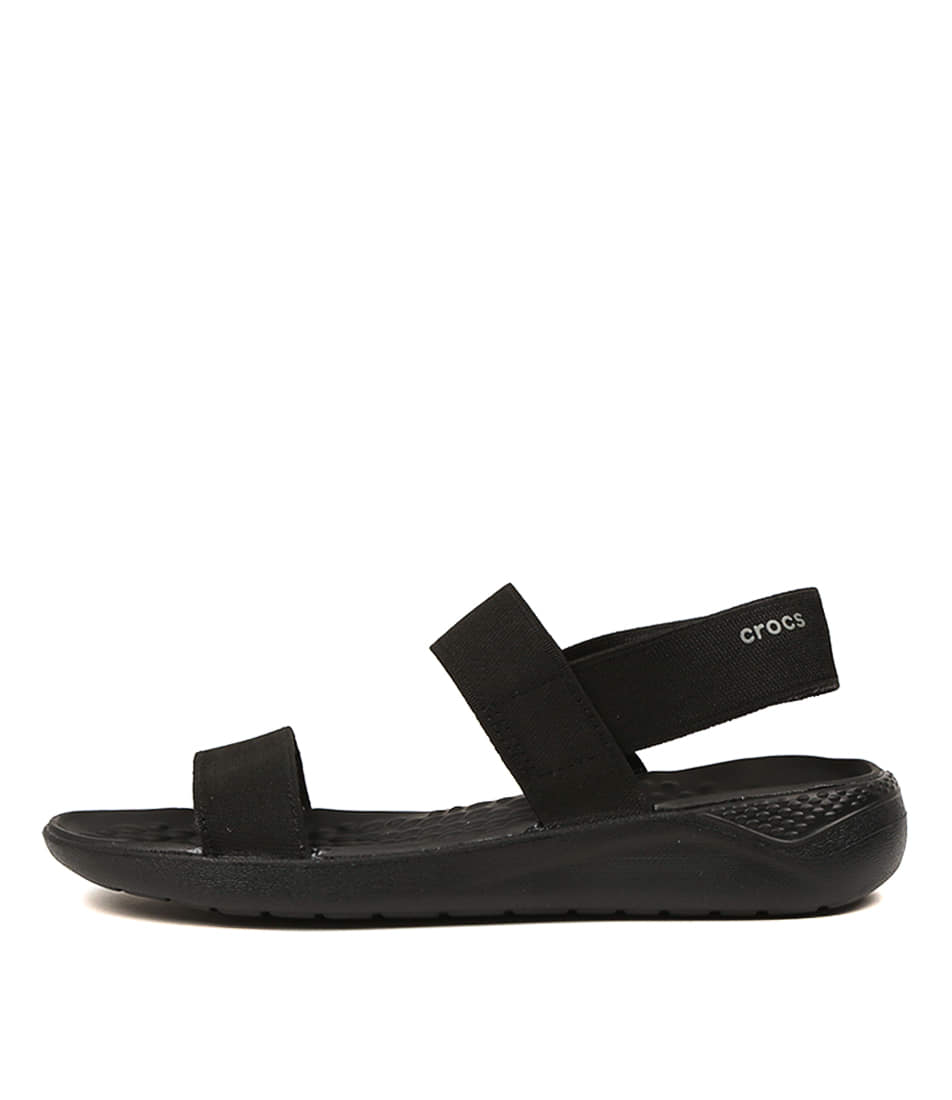 Buy Crocs Literide Sandal Black Flat Sandals online with free shipping