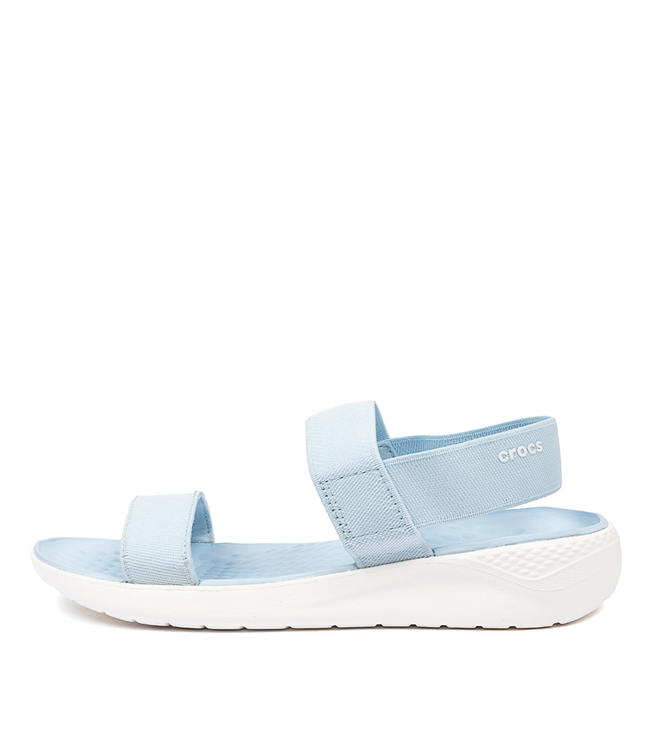 Buy Crocs Literide Sandal Mineral Blue White Flat Sandals online with free shipping