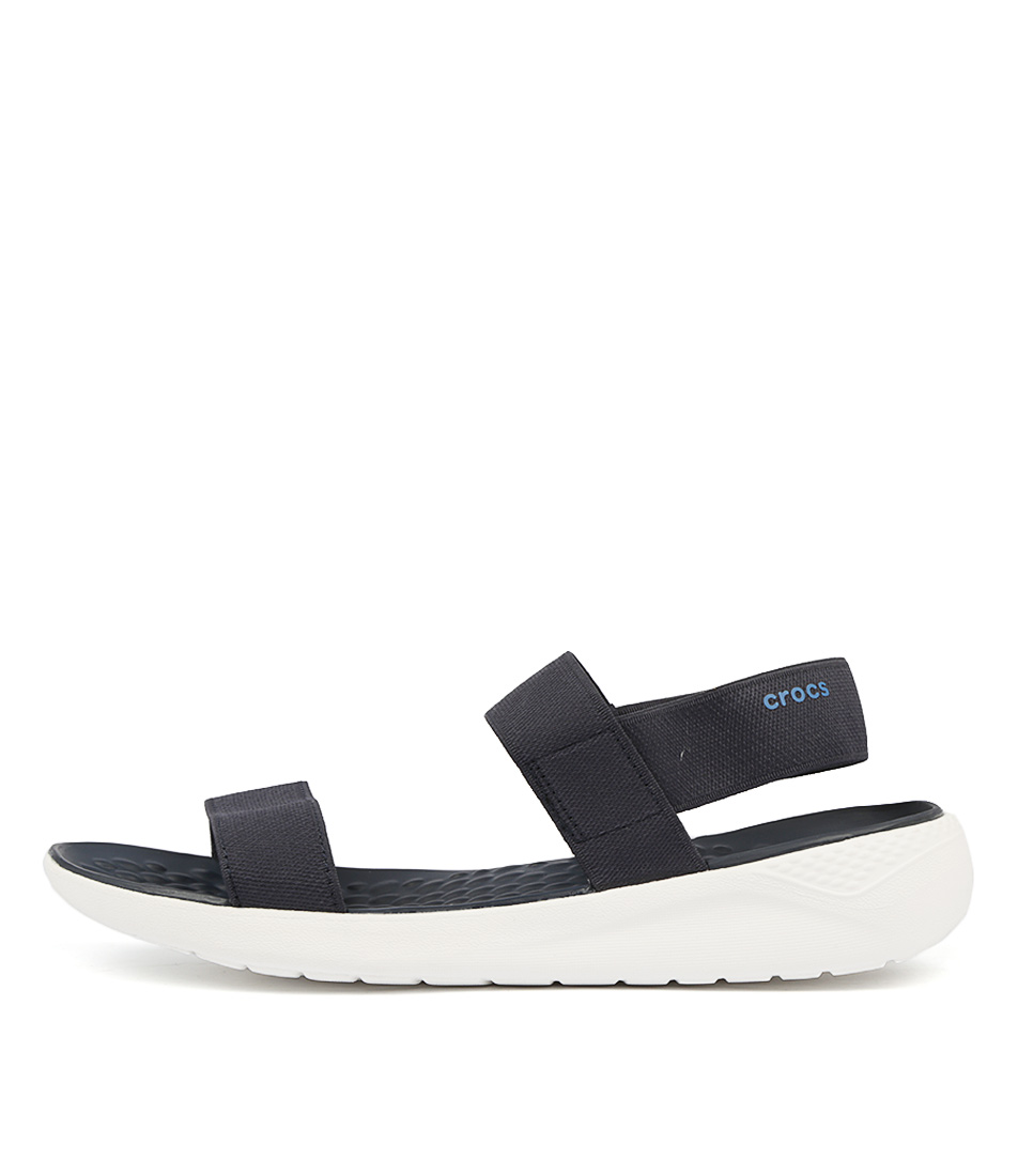 Buy Crocs Literide Sandal Navy White Flat Sandals online with free shipping