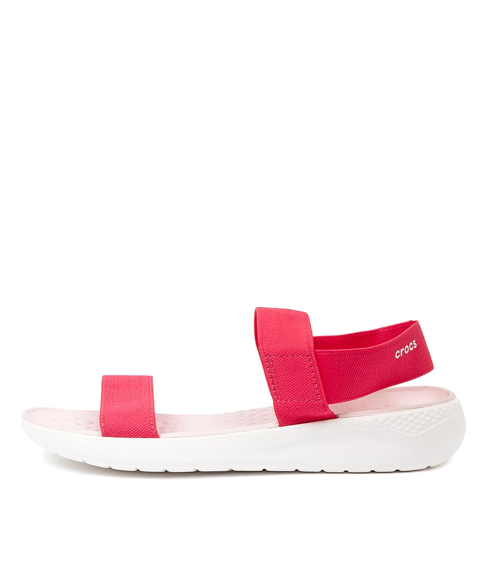Buy Crocs Literide Sandal Poppy White Flat Sandals online with free shipping