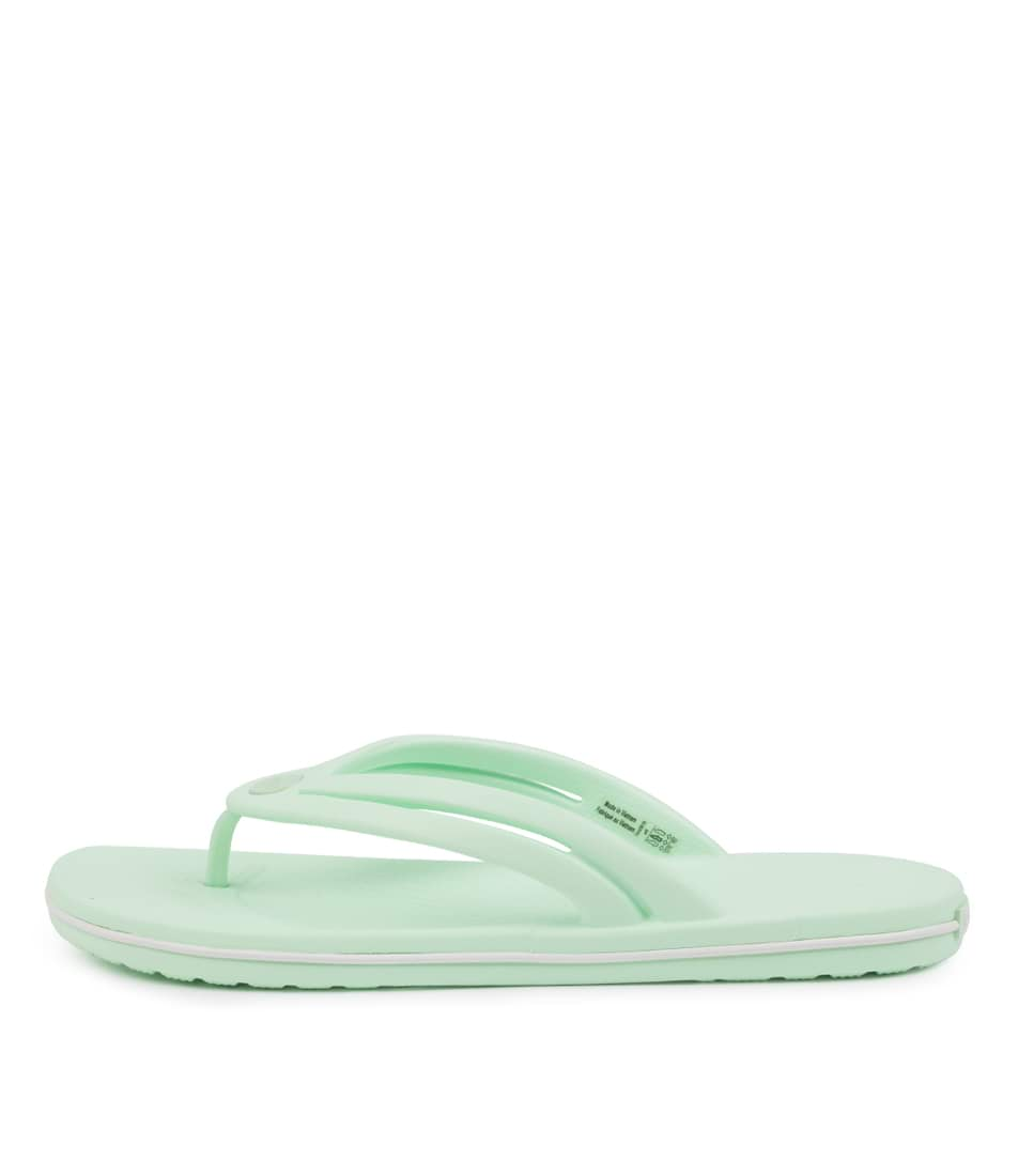 Buy Crocs 206100 Crocband Flip W Cc Neo Mint Flat Sandals online with free shipping