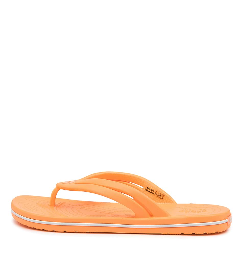Buy Crocs 206100 Crocband Flip W Cc Cantaloupe Sandals online with free shipping