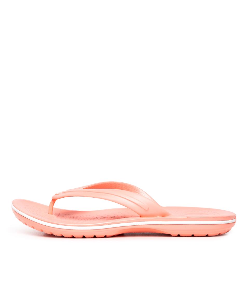 Buy Crocs 206100 Crocband Flip W Cc Melon Flat Sandals online with free shipping