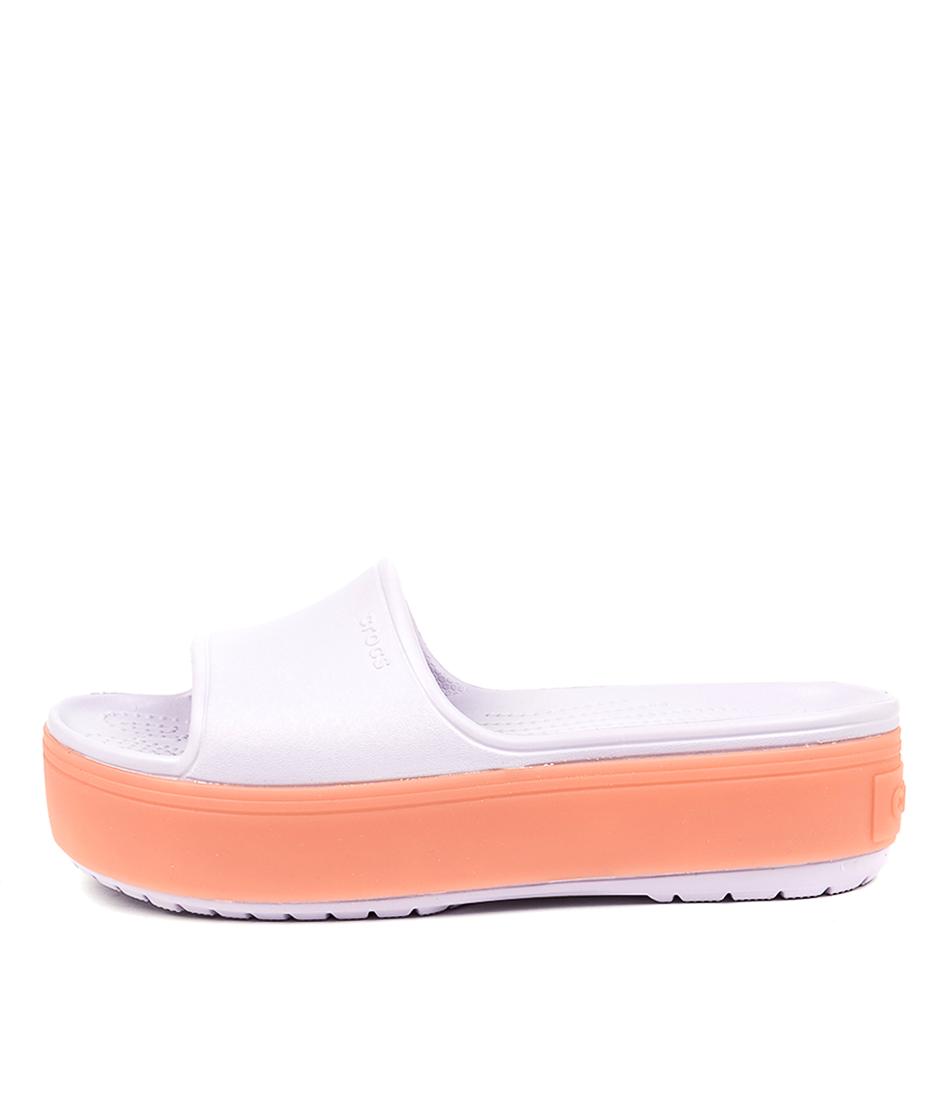 Buy Crocs Crocband Platform Slide Lavender Flat Sandals online with free shipping