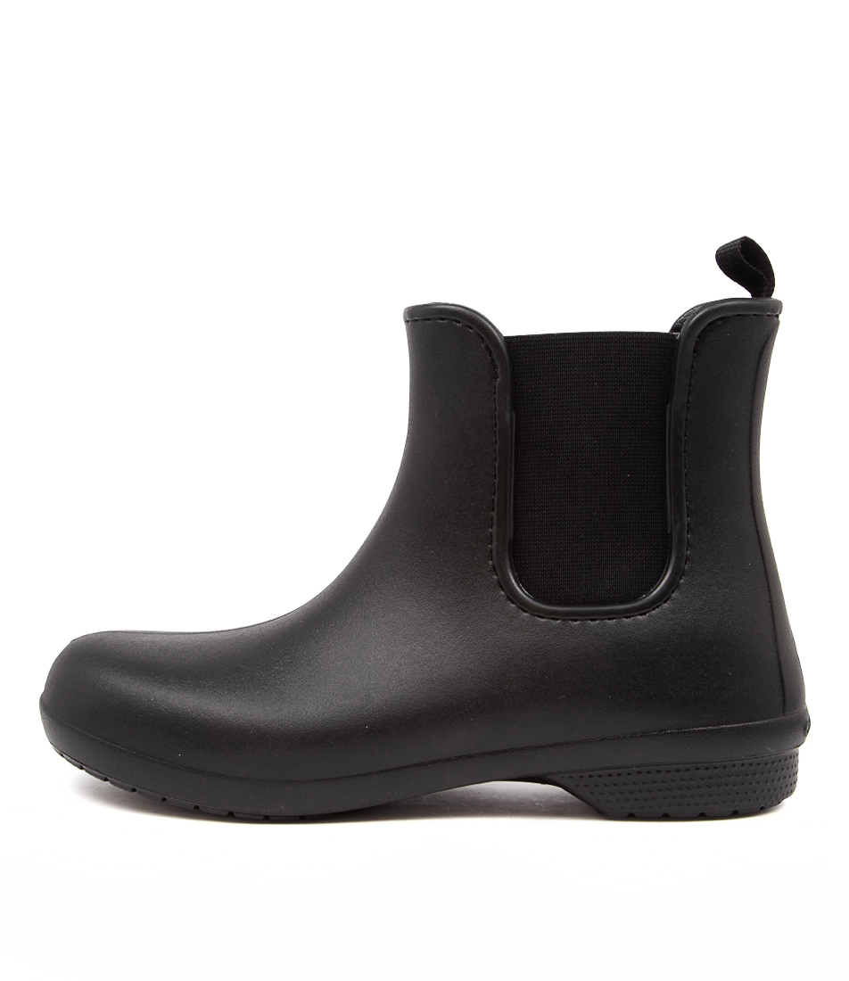 Buy Crocs Freesail Chelsea Gumboot Black Ankle Boots online with free shipping