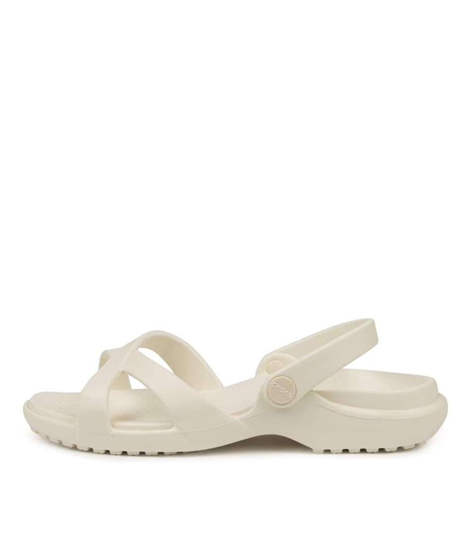 Buy Crocs Meleen Crossband Sandal W Oyster Flat Sandals online with free shipping