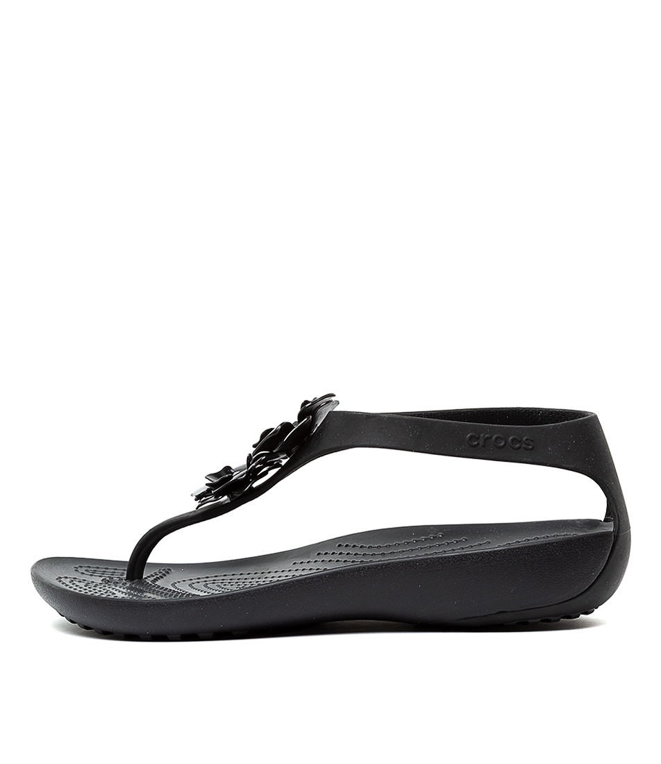 Buy Crocs Serena Embellish Flip W Black Flat Sandals online with free shipping
