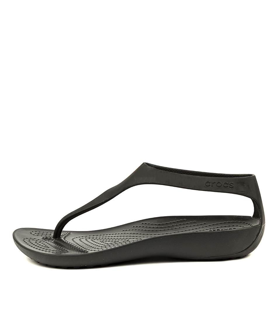 Buy Crocs Serena Flip W Black Flat Sandals online with free shipping