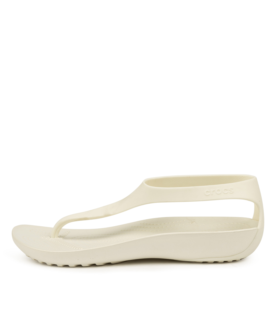 Buy Crocs Serena Flip W Oyster Oyster Flat Sandals online with free shipping