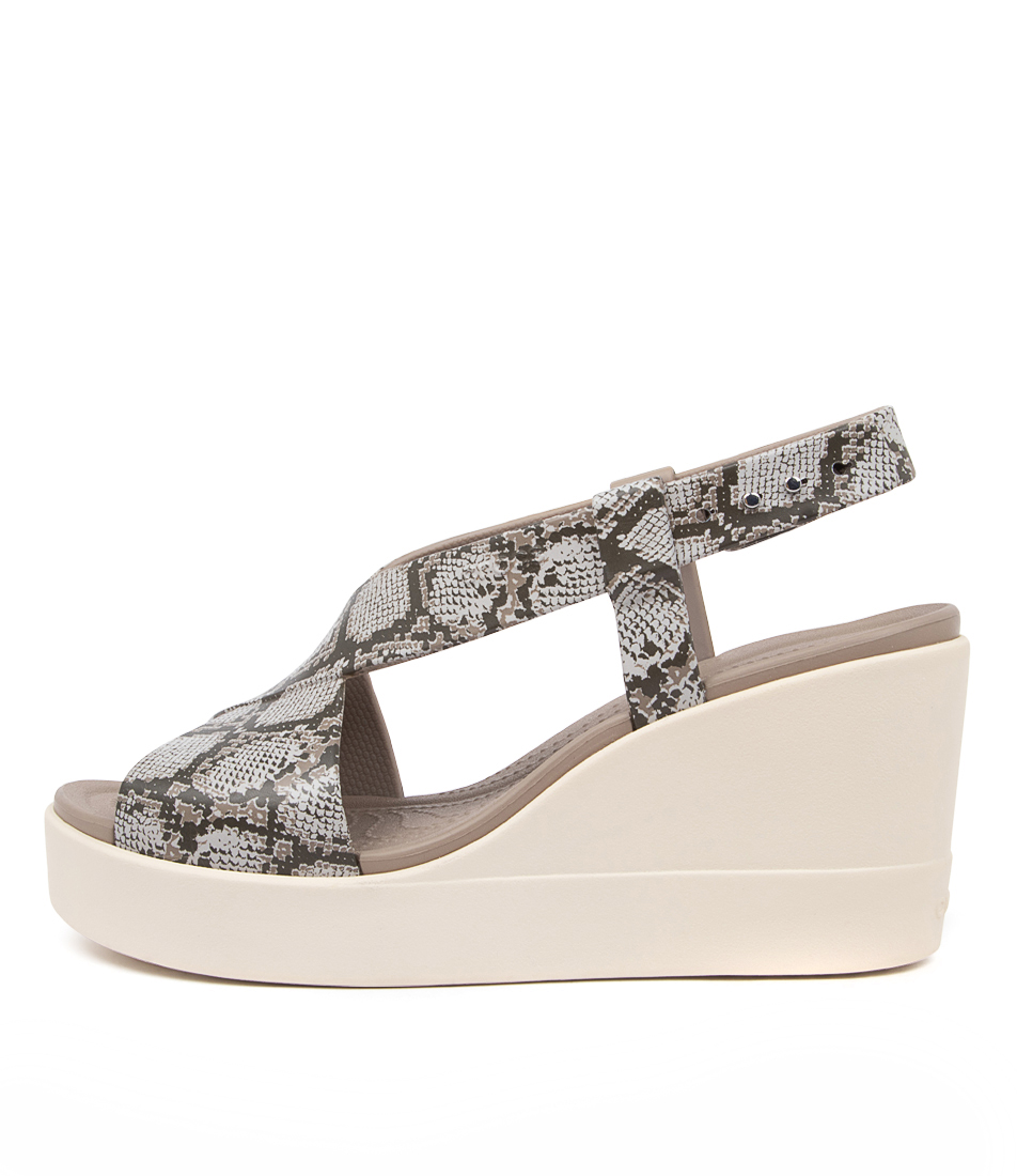 Buy Crocs Brooklyn High Wedge Cc Multi Stucco Flat Sandals online with free shipping