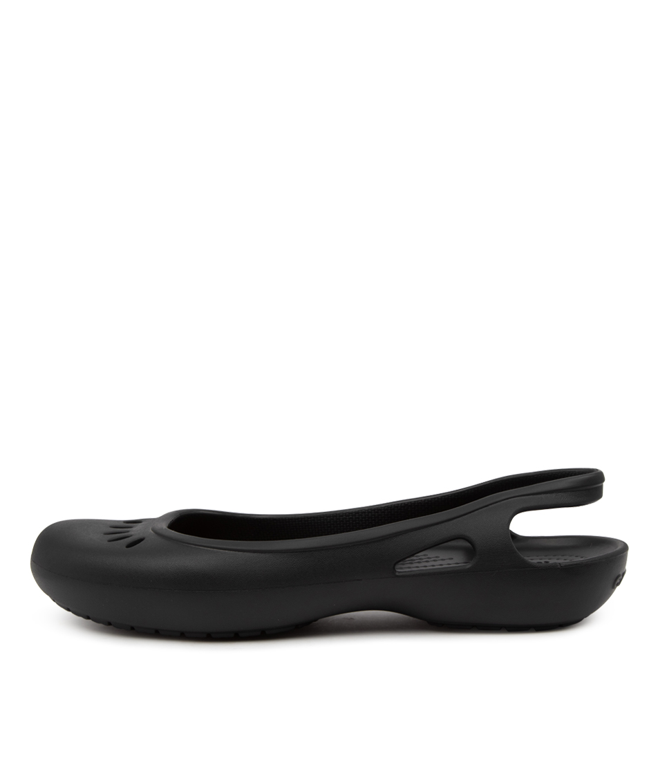 Buy Crocs Kadee Slingback Cc Black Flats online with free shipping