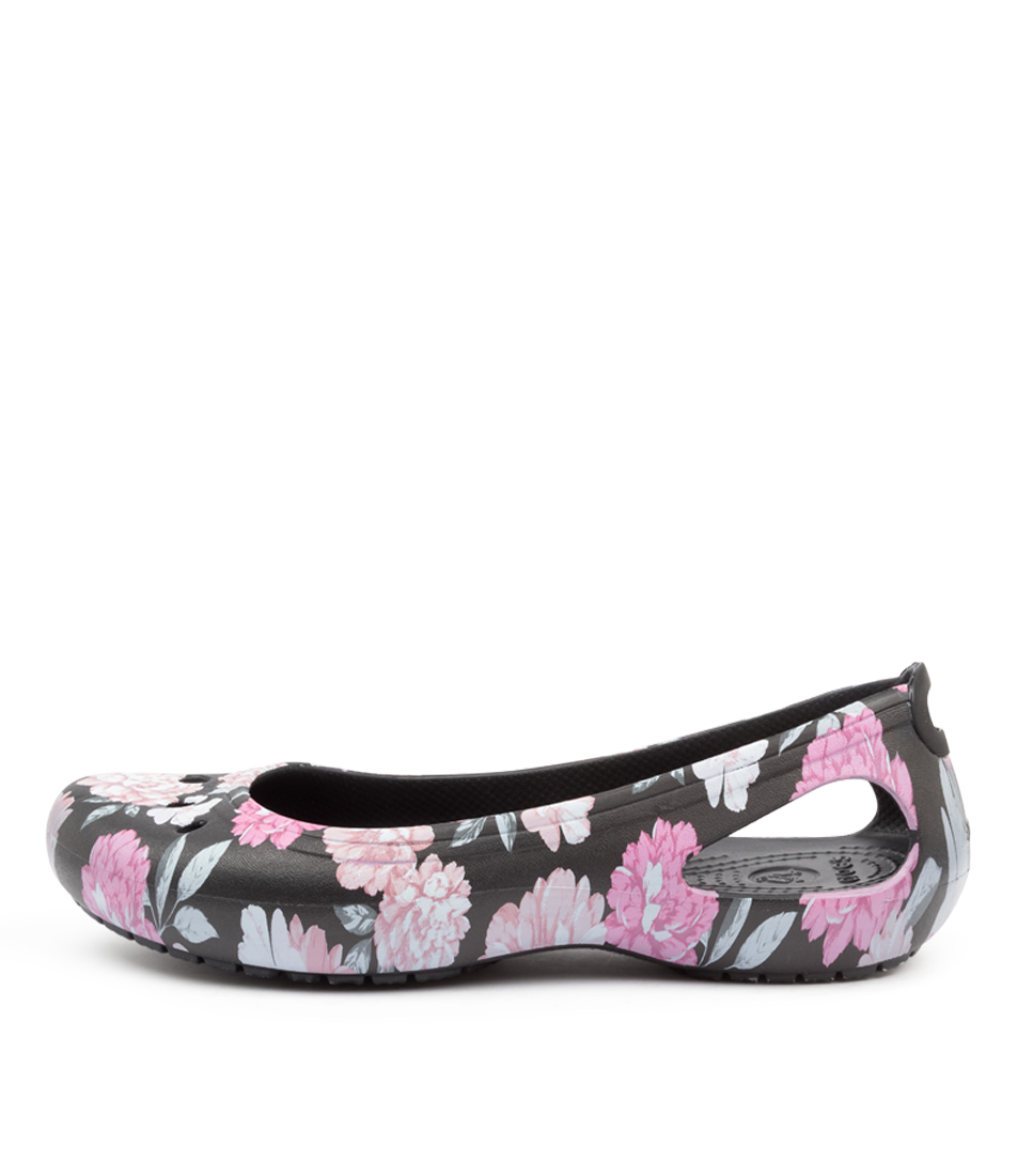 Buy Crocs Kadee Floral Flats Cc Floral Black Flats online with free shipping