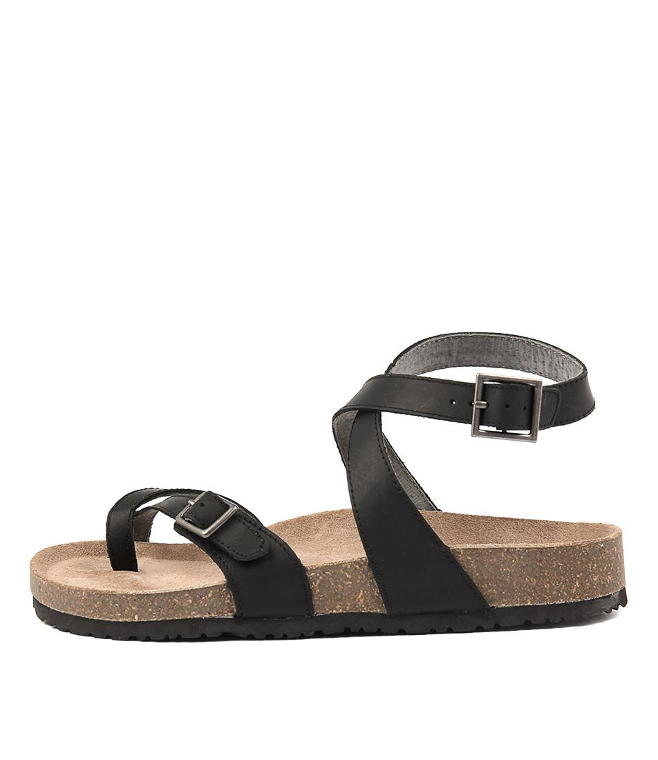 Colorado Walnut Black Sandals