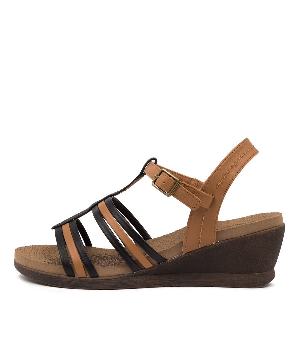 Buy Colorado Gunners Cf Tan Black Heeled Sandals online with free shipping