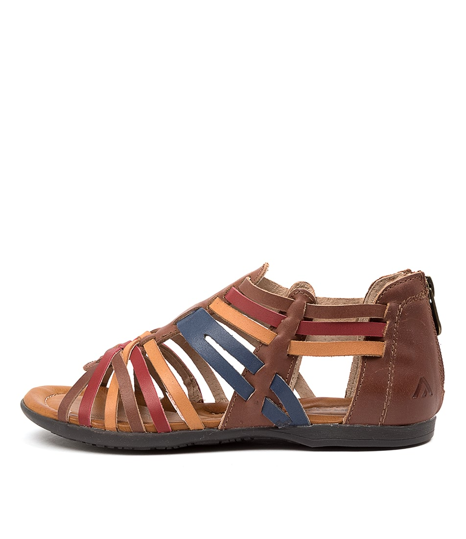 Buy Colorado Kiwi Cf Brown Multi Flat Sandals online with free shipping