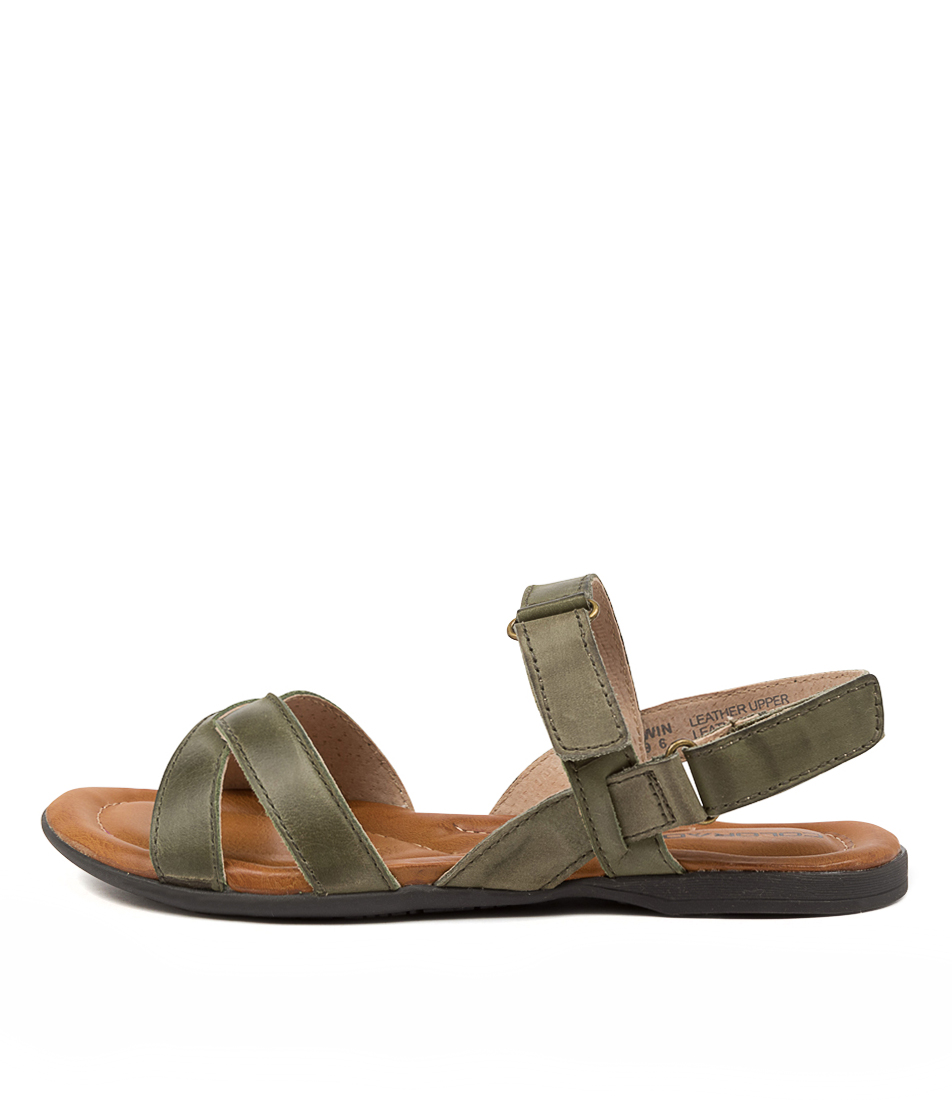 Buy Colorado Kirwin Cf Khaki Flat Sandals online with free shipping