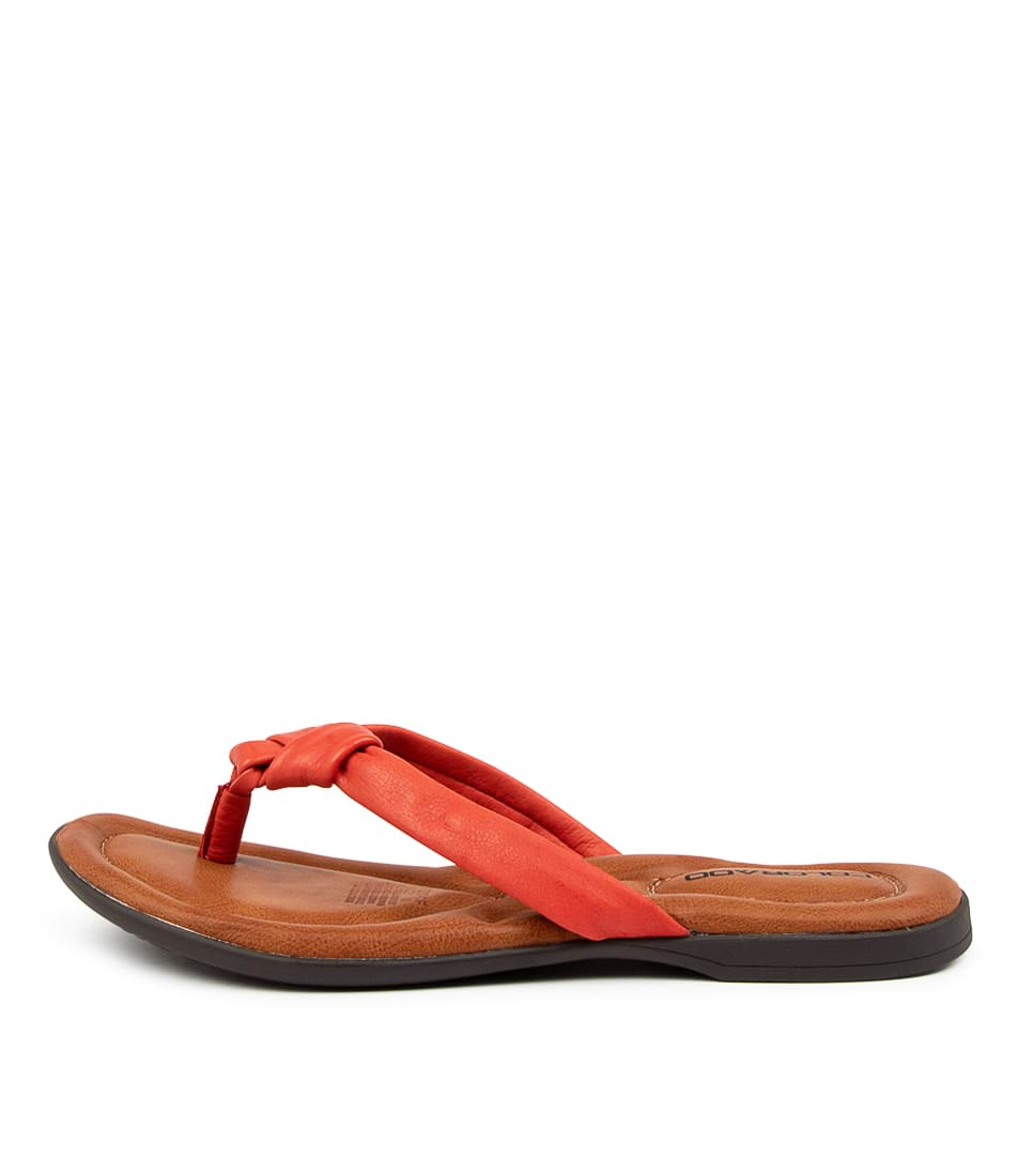 Buy Colorado Kally Cf Tangerine Flat Sandals online with free shipping