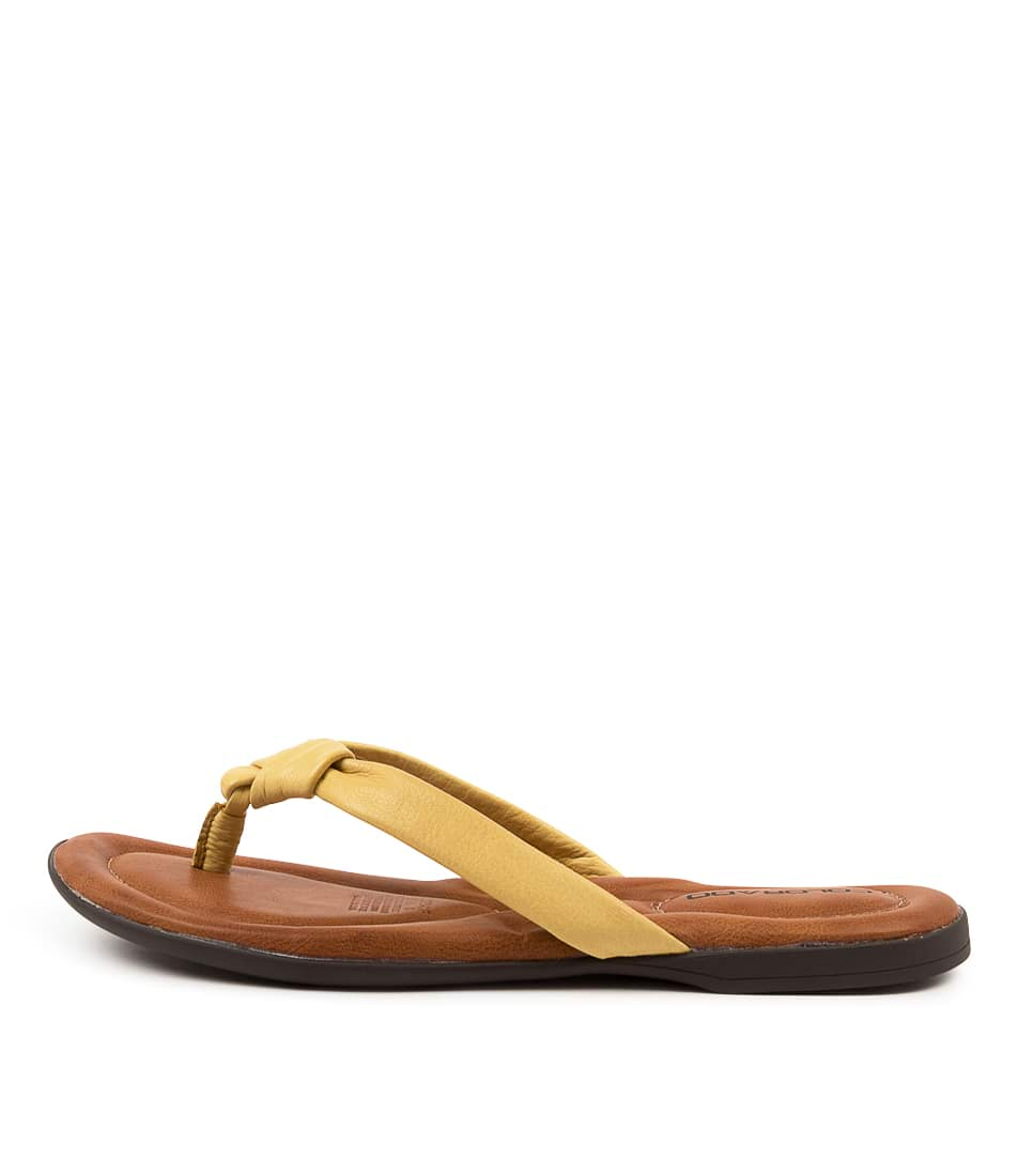 Buy Colorado Kally Cf Yellow Flat Sandals online with free shipping